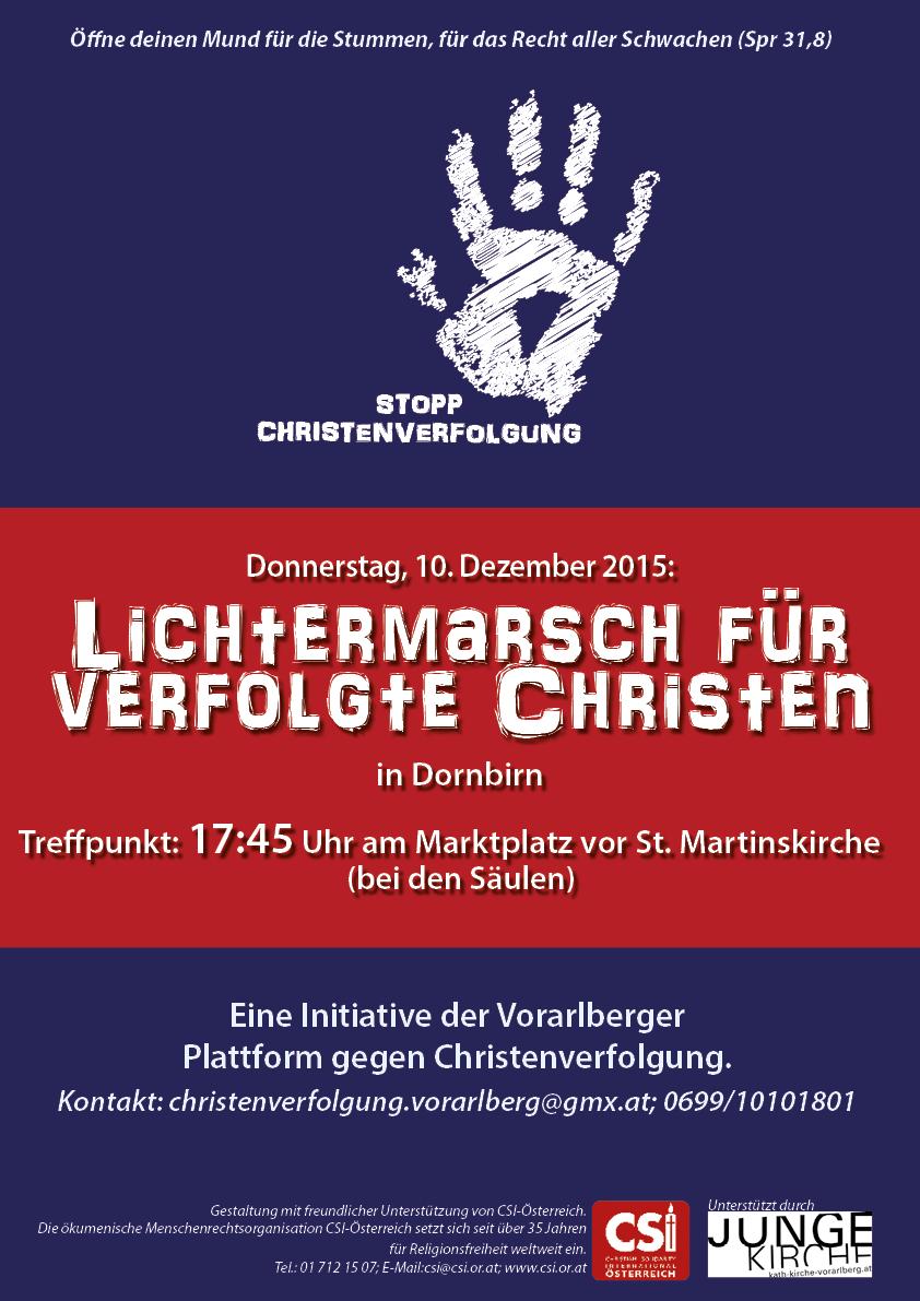 A3 Plakat Lichtermarsch Dornbirn