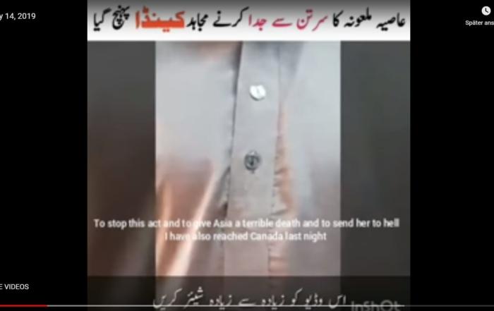 Morddrohungsvideo Asia Bibi_Screenshot www.jihadwatch.org